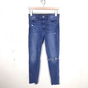 Joes High Rise Skinny Ankle Distressed Light Jeans